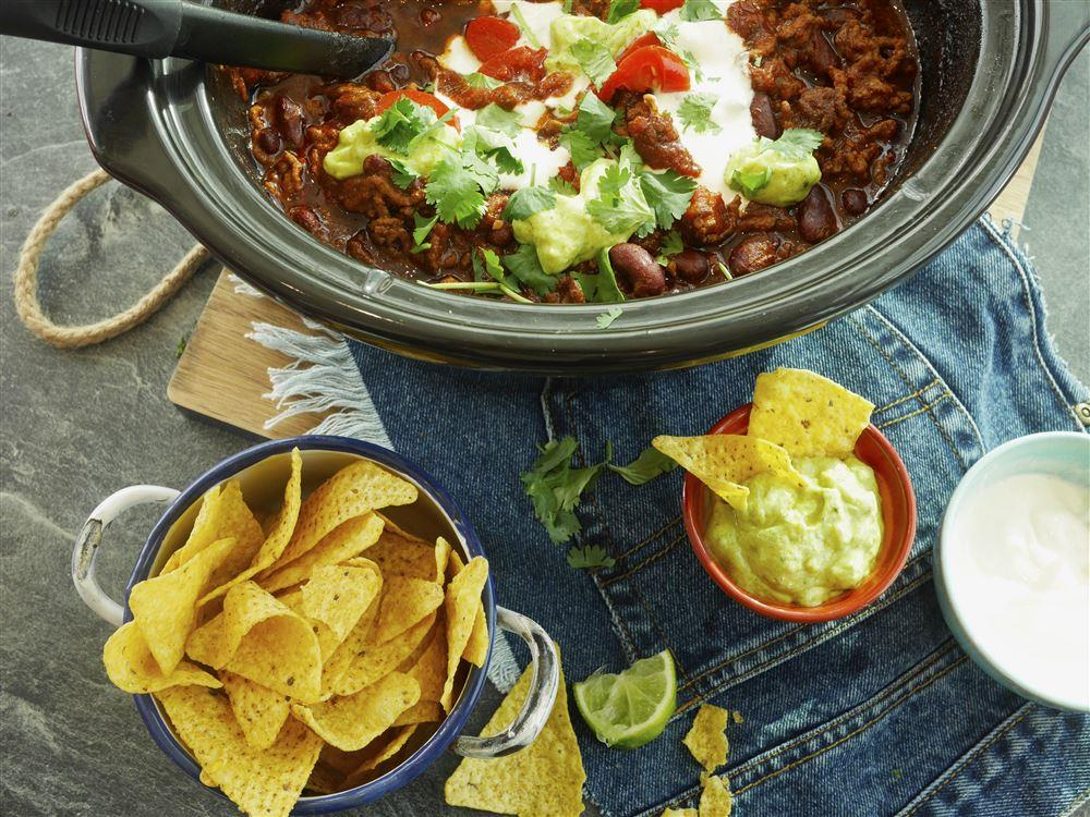 how to cook chilli con carne in slow cooker