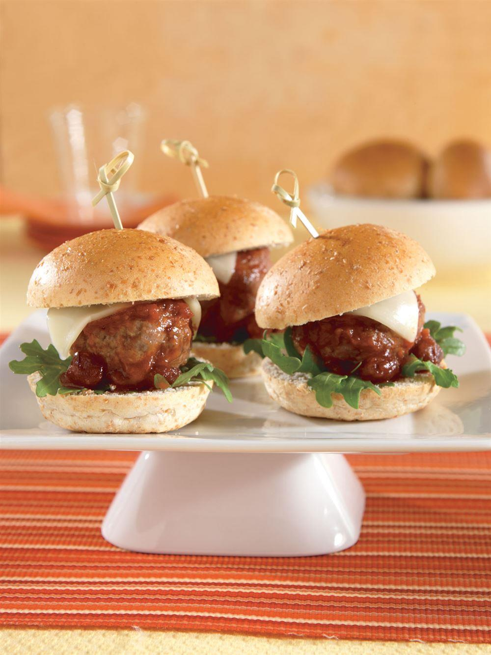 Super Meatball Sliders Recipe from the Crock-Pot® Wings and Things cookbook. Item # 2267700