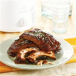 Fall-off-the-Bone BBQ Ribs Recipe from the Crock-Pot® Wings and Things cookbook. Item # 2267700