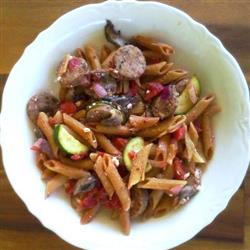 Simple Sausage and Feta Penne