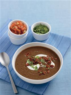 Black Bean Chipotle Soup Recipe from Crock-Pot® Hearty Soups, Stews & Chilies cookbook (item # 2269800)