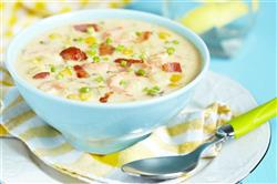 Chicken, Corn, and Beer-Cheddar Chowder