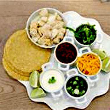 Serve fish with tortillas and your favorite toppings!