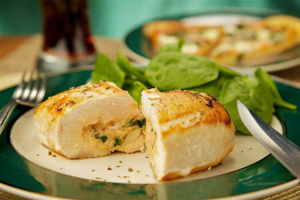 Apple and Brie Stuffed Chicken in Crock-Pot