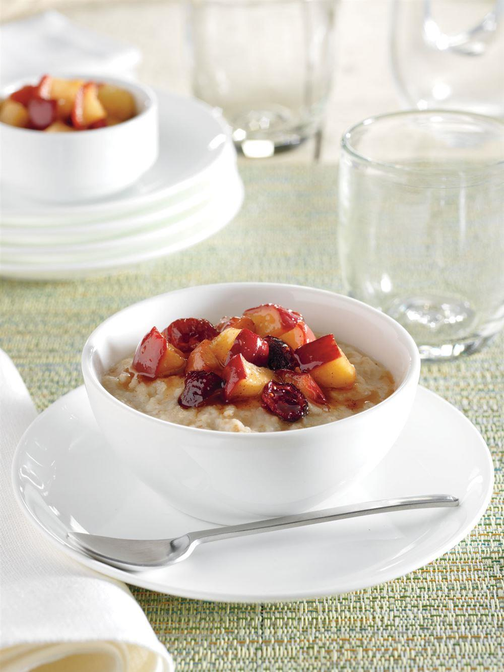 Oatmeal with Maple-Glazed Apples and Cranberries recipe from Crock-Pot® 5 Ingredients or Less cookbook (item # 2275100)