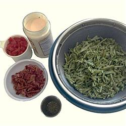Ingredients for Alfredo Green Beans with Pancetta