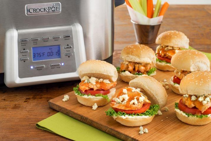 Buffalo chicken sliders are perfect game-day snacks.