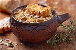 Rich, cheesy and savory this classic soup is best served hot with a slice of French baguette on top.