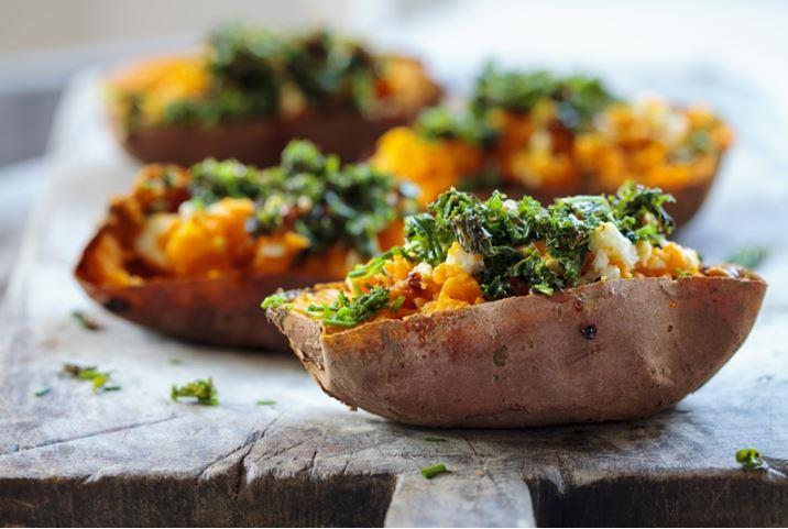 You can get as creative as you want with these loaded potato skins - even use sweet potatoes!