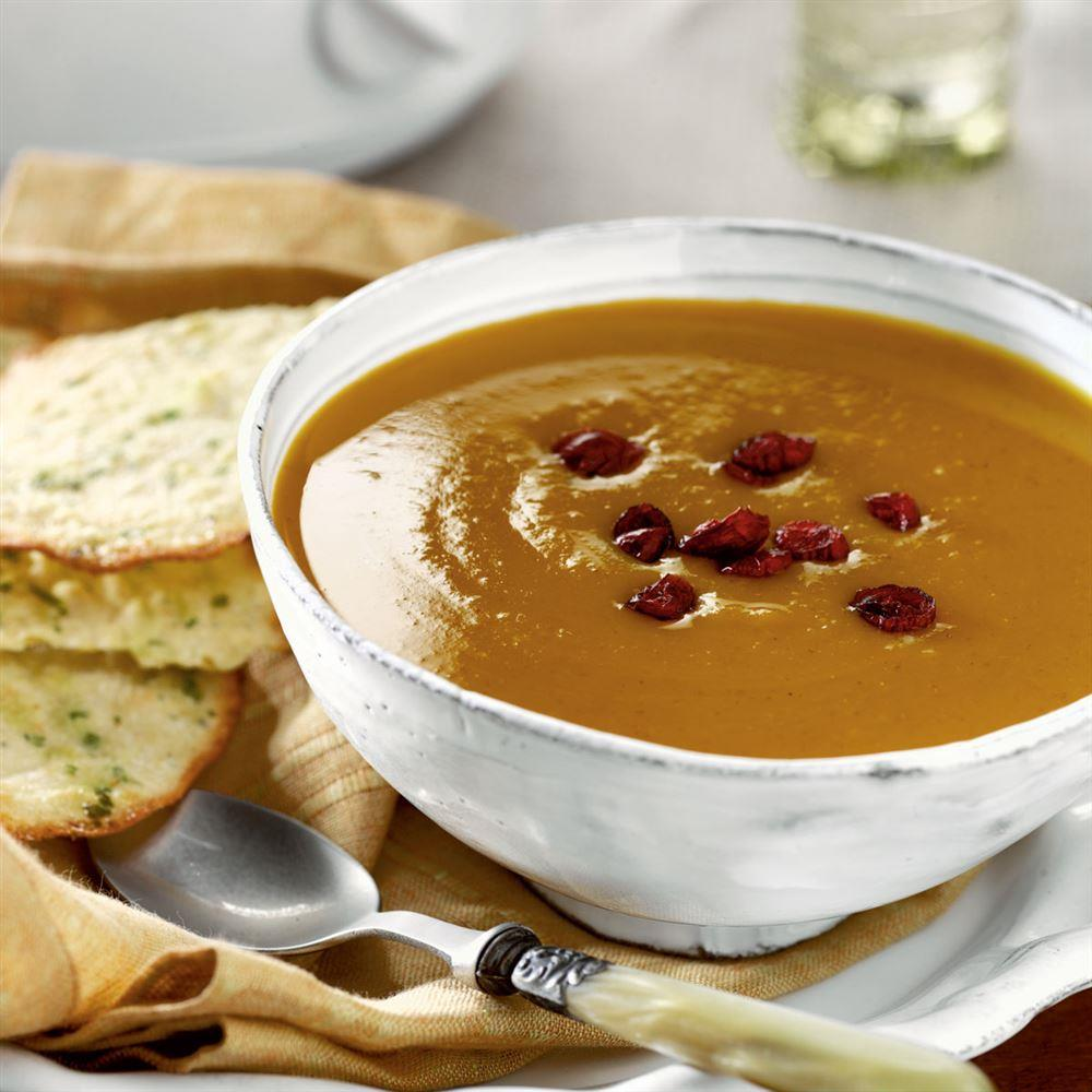 Curried Butternut Squash Soup recipe from Crock-Pot® 5 Ingredients or Less cookbook (item # 2275100)