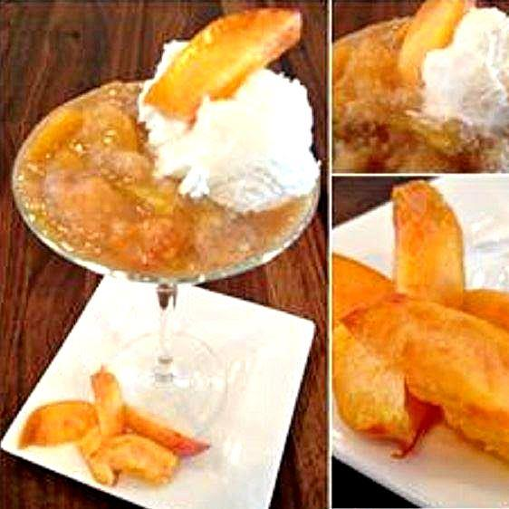 Beautiful peach cobbler